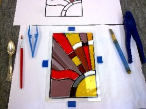 Advanced Glass Fusing Students Glasswork