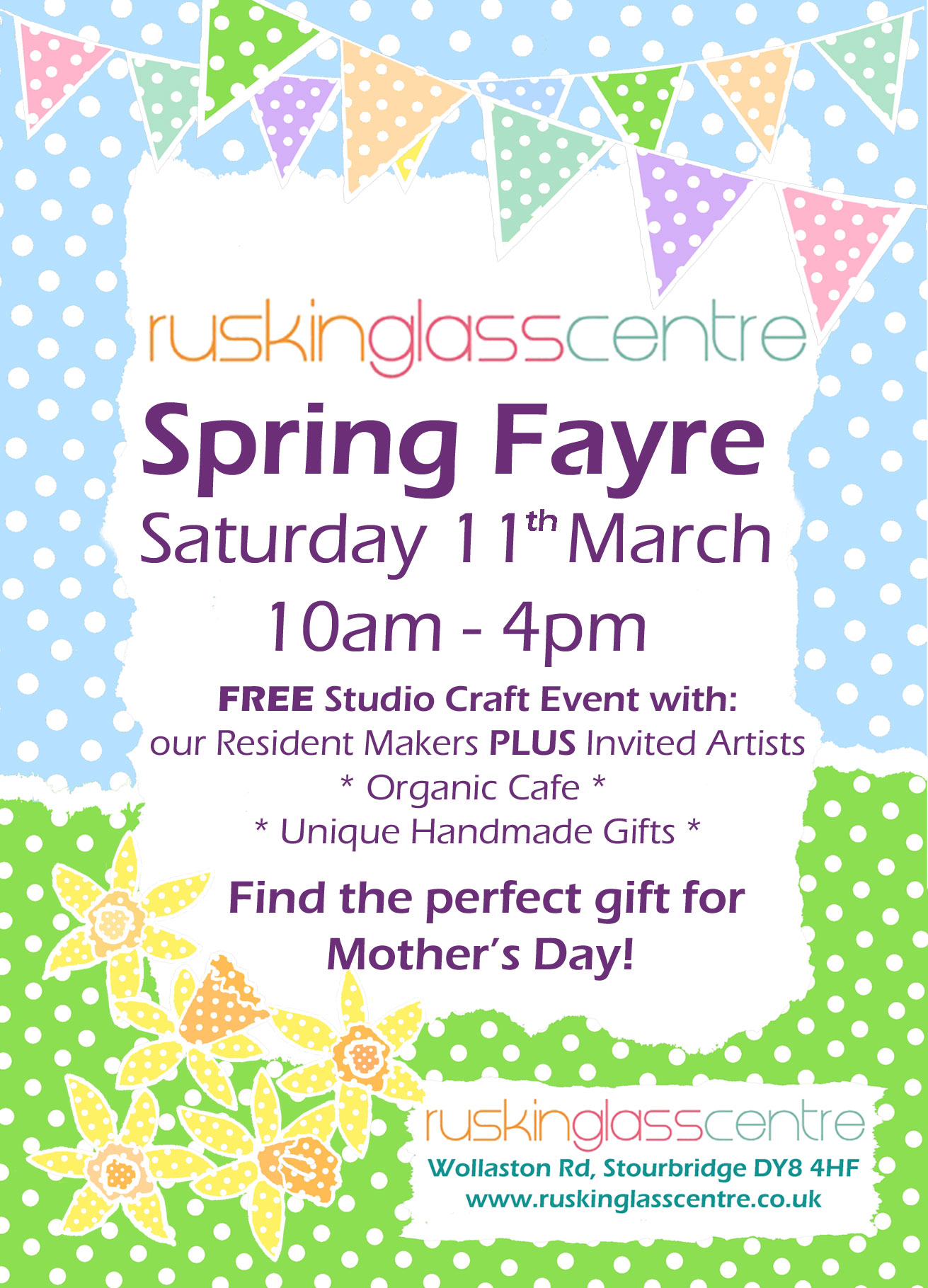 Spring craft gift fayre ruskin glass centre our spring gift craft fair just in time for mothers day and easter gifts negle Gallery